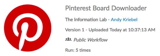 My First Alteryx App: Pinterest Board Downloader