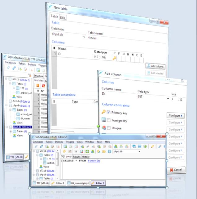 برنامج رائع لإدارة نظام قواعد البيانات SQLite