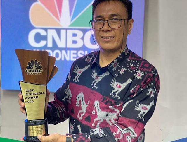 CNBC Indonesia Award 2020, Bank Kalsel Raih The Most Aggressive in Digital Banking