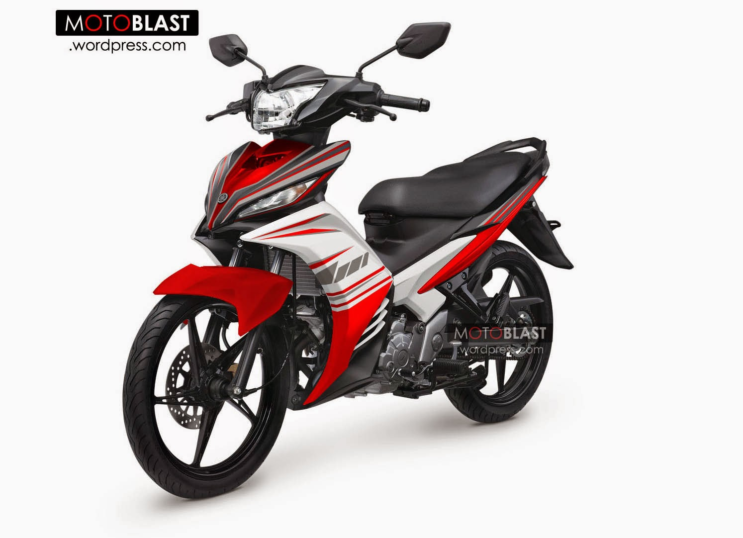 Jupiter Mx Modifikasi Warna Merah