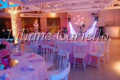 Fotos de decoração de casamento de Casamento Bianca e Jorge no Clube Marimbás da decoradora e cerimonialista de casamento Liliane Cariello que atua no Rio de Janeiro e Niterói, RJ.
