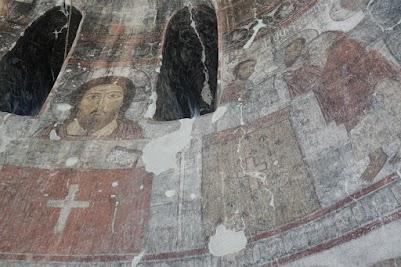 Wandmalerei im Kloster Kobayr
