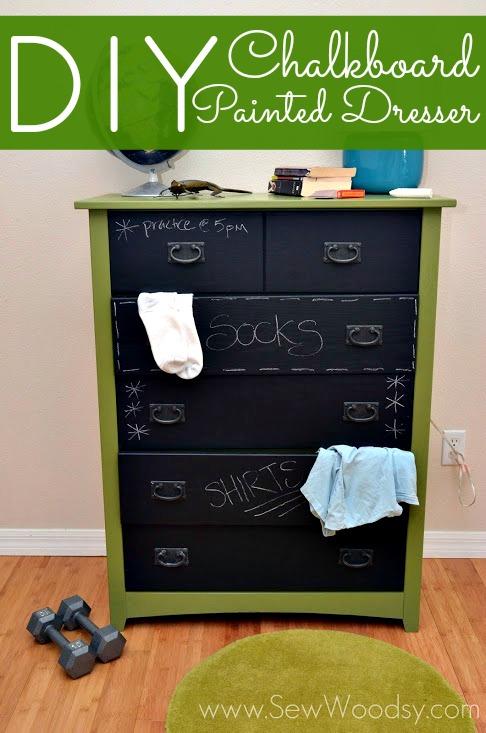 Diy Chalkboard Painted Dresser Sew Woodsy