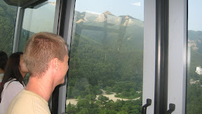 this picture is for Momma K, so she can see her Baby K on the cable car up the Sorak Mountains