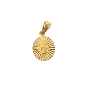 10K Gold Mary Pendant