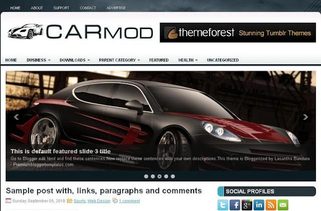 Carmod Blogger Template