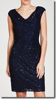 Lauren Ralph Lauren sequined stretch ruched dress