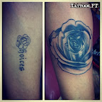 leg rose - tattoos ideas