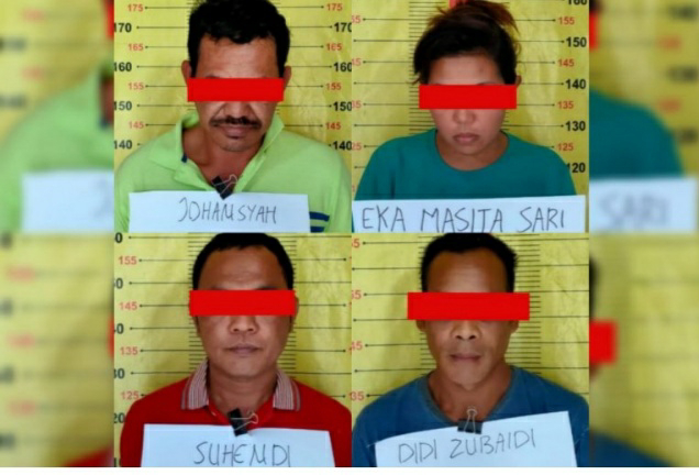 4 Orang Terduga Pengedar Narkoba Ditangkap Satresnarkoba Polres Tanggamus