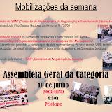 SIMP - Mobilizações e Assembleia (07 a 10 de junho)