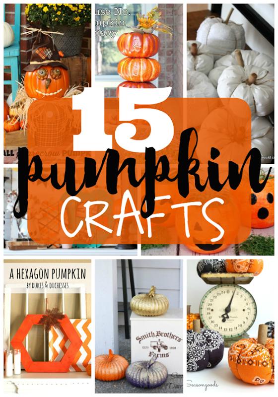 15 Pumpkin Crafts at GingerSnapCrafts.com #pumpkin #crafts