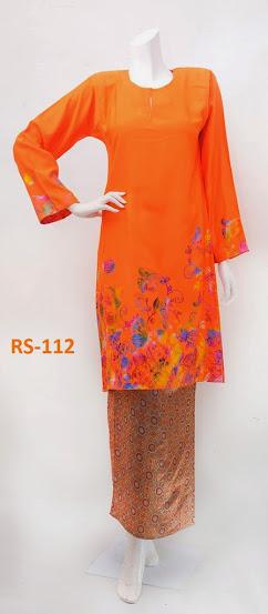 baju raya limited edition terkini 2014 oren baju fesyen kurung pesak gantung kain songket murah online
