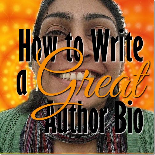 how to write author biography