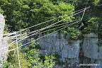 La tyrolienne, on ne lésine pas sur le nombre de corde.