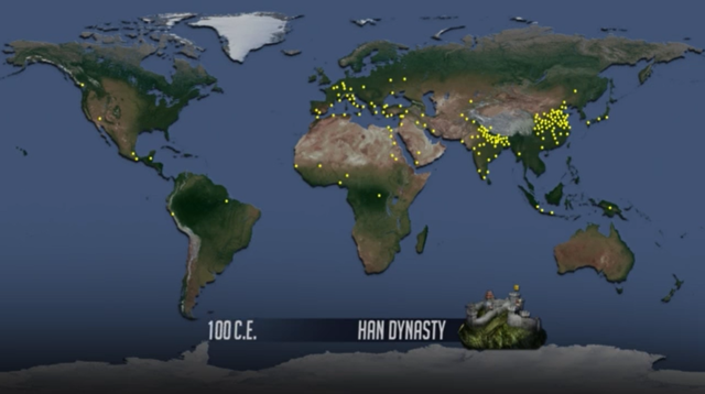 Screenshot from the video, 'World Population' from Population Education. Graphic: WorldPopulationHistory.org