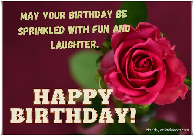 Rose, Birthday Card, Fun, laughter,