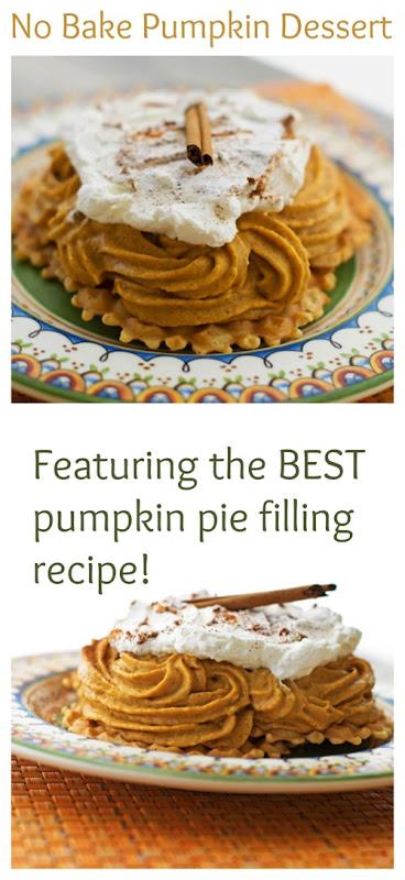 No Bake Pumpkin Dessert that features the BEST pumpkin pie filling recipe