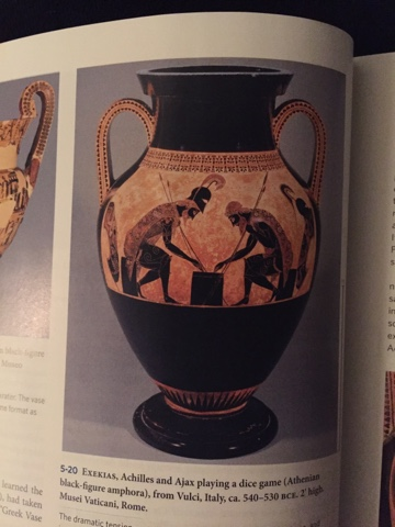 Karelys Art History Blog Achilles And Ajax Playing A Dice Game