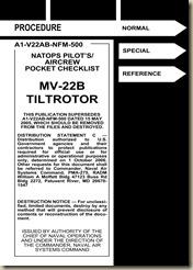 Bell Boeing MV-22B Osprey Tilt Rotor Pocket Checklist_01