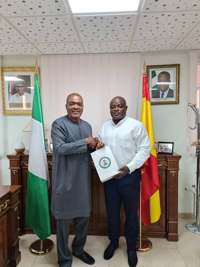 Lagos Speaker Obasa Meets Nigeria's Ambassador To Spain (photo) ~Omonaijablog