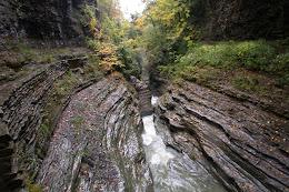 Water flowing through the gorge at Watkins Glen.