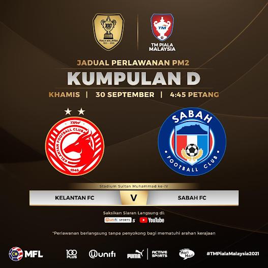 Siaran Langsung Kelantan vs Sabah 30.9.2021