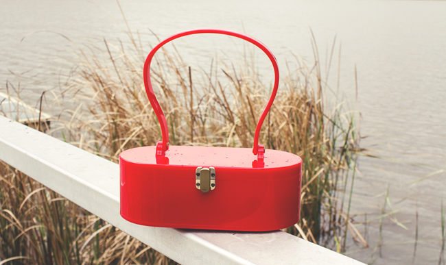 Lola Von Rose Vintage Reproduction Bag in Red | Lavender & Twill
