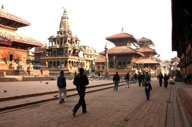 Walking Past Pratan Durbar Square