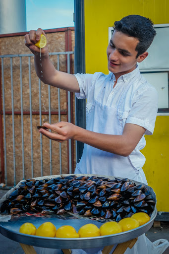 Sasha the mussels vendor! From #WidenYourWorld: Most Influential Travel Bloggers Share the Best of Turkey