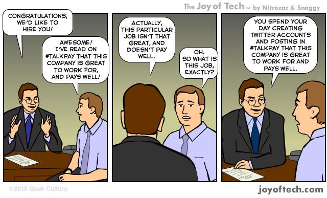 Joy of Tech - Talkpay Job Pay Interview