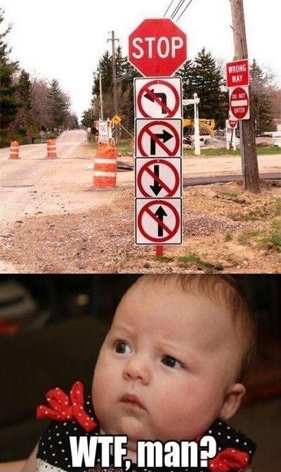 WTF Road Sign