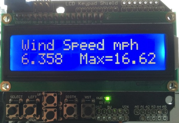 Arduino wind speed