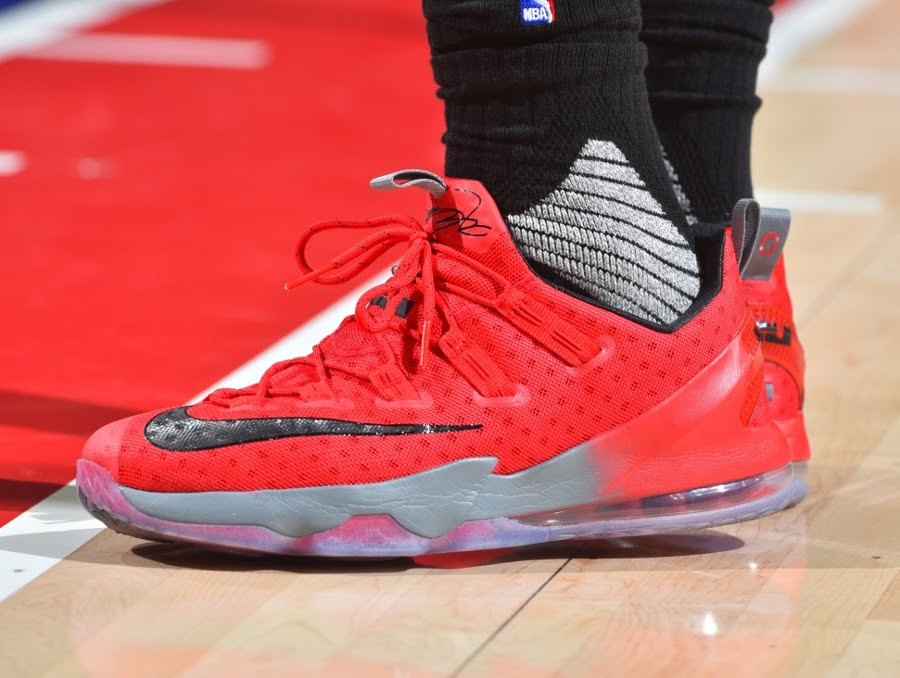 33bbdf650ae LBJ Displays His Strong OSU Bond with Special LeBron 13 Low PE ...