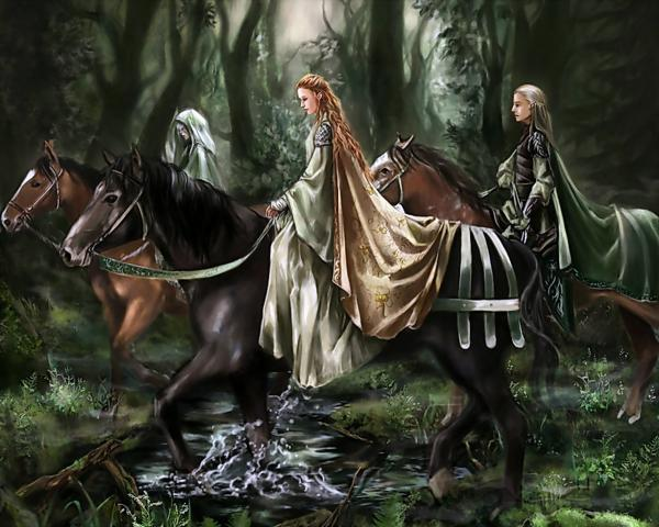 Elf Princess With A Retinue, Elven Girls 2