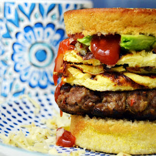 Omelette Burger - Breakfast for Dinner