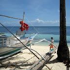 Banka boat on Malapascua beach