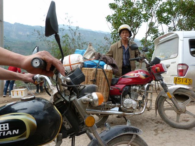 même les motos ne sont pas autorisées à passer