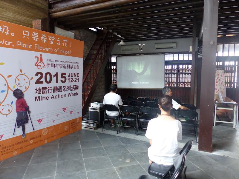 Taipei. Le parc Sanli et un évenement contre les mines dans le monde - mines%2B056.JPG