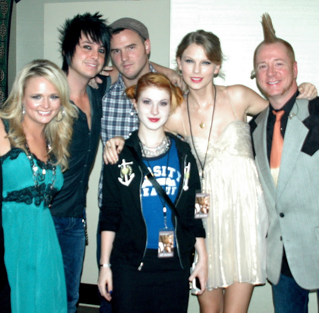 Miranda Lambert, Grant Mickelson, Chad Gilbert, Hayley Williams and Taylor Swift at Revolution at the Ryman