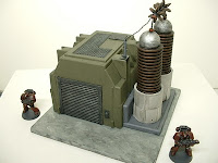 Power plant Industrial Science Fiction war game terrain and scenery - UniversalTerrain.com