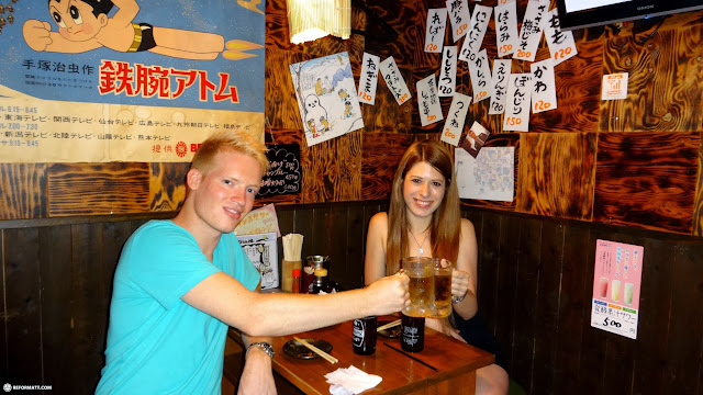 food and hoppy drinks at Ebisu in Meguro, Tokyo, Japan