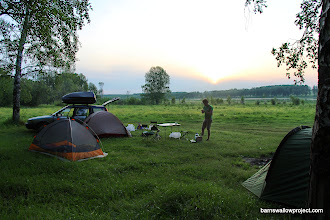 Photo: 1st night car camping along the barn swallow contact zone