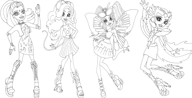 Boo York Monster High Coloring Sheet