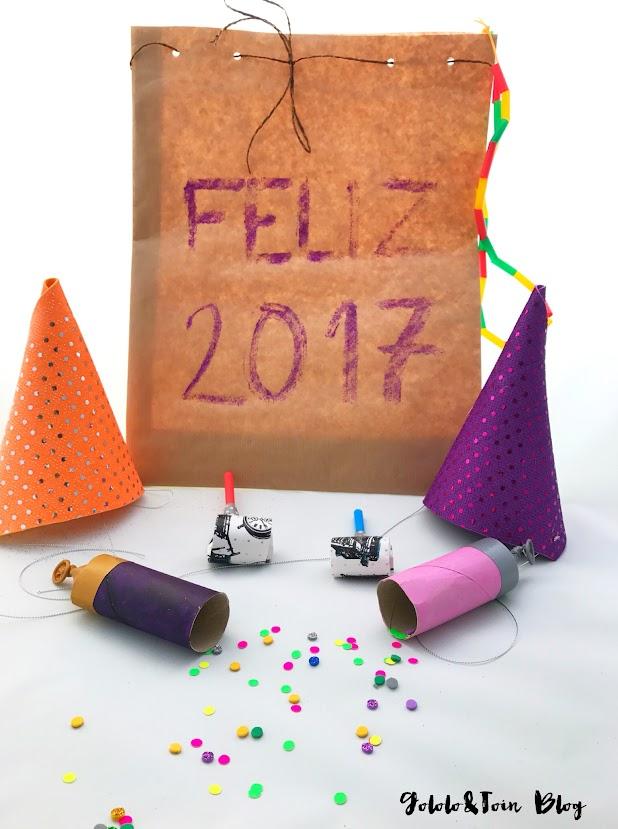 cotillón-diy-handmade-manualidades-nochevieja-gorros-collar-matasuegras-confetti