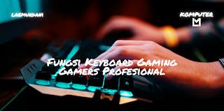 Fungsi Keyboard Gaming Guna Mendukung Gamers Profesional