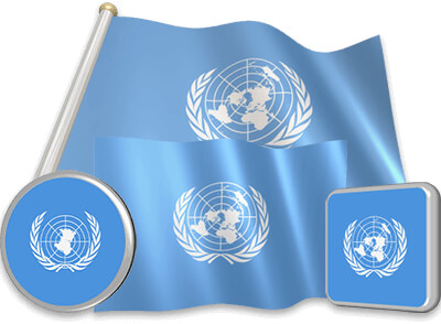 United Nations flag animated gif collection