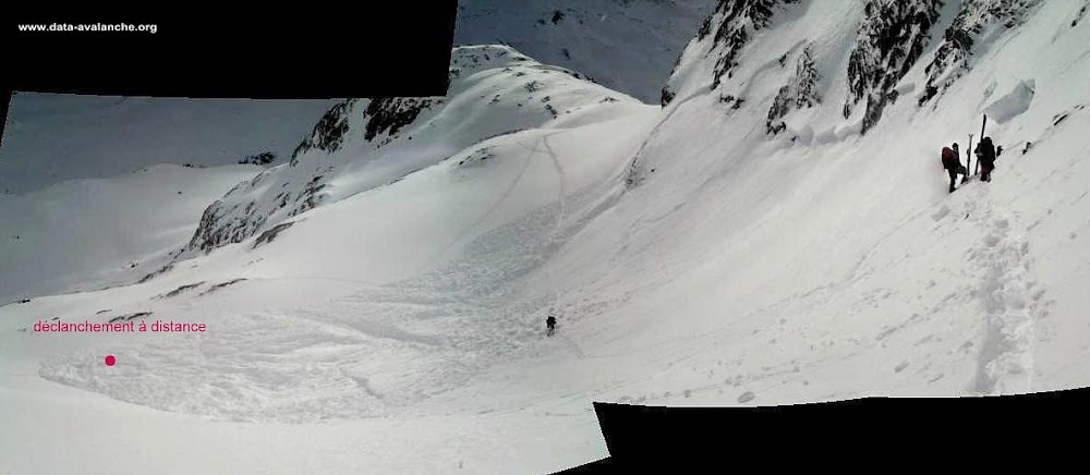 Avalanche Val di Rheme, secteur Benevolo, En amont du refuge Benevolo - Photo 1