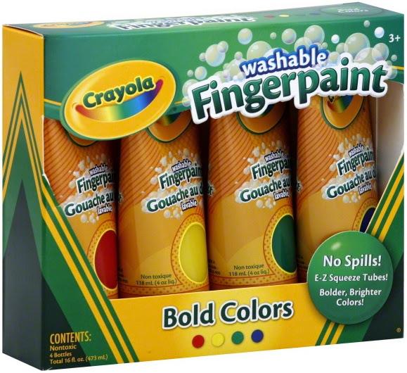 Bộ 4 màu vẽ bằng ngón tay Crayola Fingerpaints Bold Colors sản xuất tại Mỹ