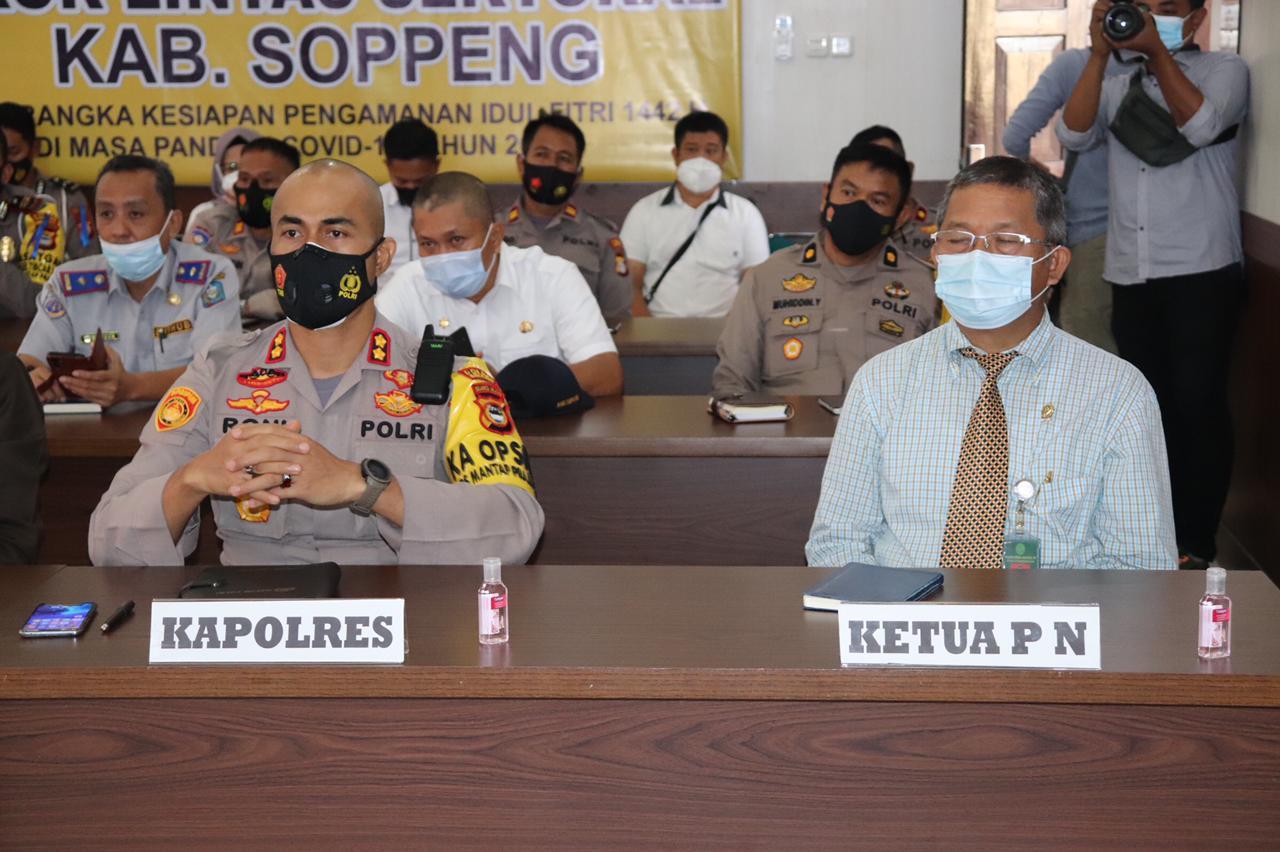 Polres Soppeng Gelar Rakor Persiapan Pengamanan Hari Raya Idul Fitri