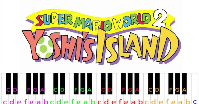 Flower Garden Yoshi S Island Piano Letter Notes
